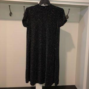 Onyx Nite black short sleeve sparkle dress size 8